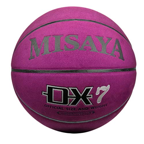 New WENPINHUI Outdoor Basketball - School Team Outdoor Rubber Basketball, No. 7, Purple (Color : No....