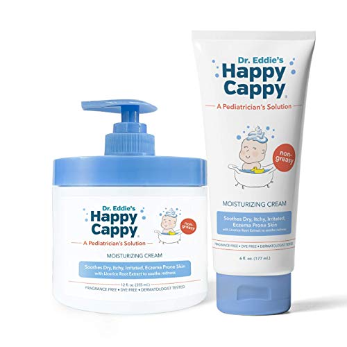 Happy Cappy Moisturizing Cream | 12 oz Pump Jar & 6 oz Tube Bundle