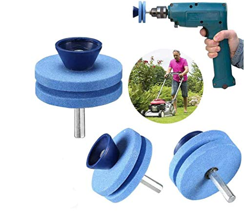 [Upgraded products in 2020] Mower Saw Blade Sharpener Drill Bit attachment, Blunt Blade Sharpener, Blunt Blade Drill Attachment Mower Sharpener Mower Blade Kit, Suitable For Any Electric Drill Handhel