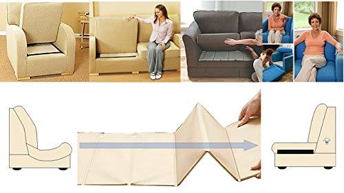 Rejuvenecedor de asiento de sofá resistente, soporte de 3 plazas, protector de tapicería empapado, tablero de barras de madera MDF súper sólido para sofá (tres plazas)