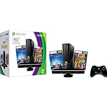 Xbox 360 4GB Kinect Console Bundle with Kinect Disneyland Adventures and Kinect Adventures