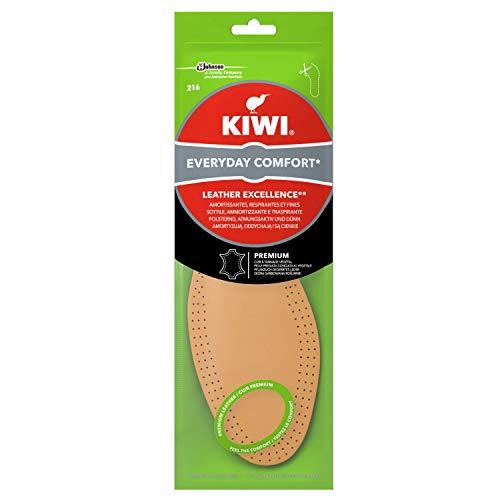 Kiwi Einlegesohlen aus echtem Leder für den täglichen Gebrauch, stoßdämpfend und atmungsaktiv, Größe 36-46