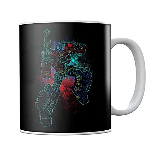 Shadow of Optimus Prime Spray Art Transformers Taza de café de cerámica, regalo de cumpleaños