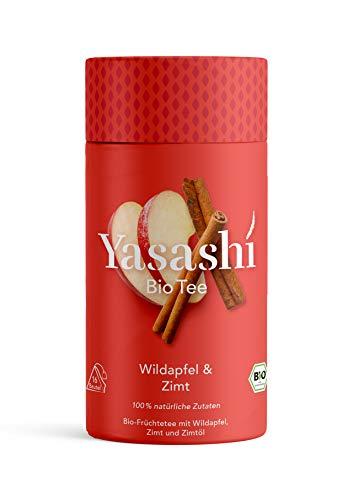 Yasashi Bio Tee | Bio Früchtetee Wildapfel. Zimt und Zimtöl | Süß und würzig | 100% natürliche Zutaten | 100% Bio Qualität | 100% recyclefähige Verpackung | 16 Pyramidenbeutel x 2,5g 105870
