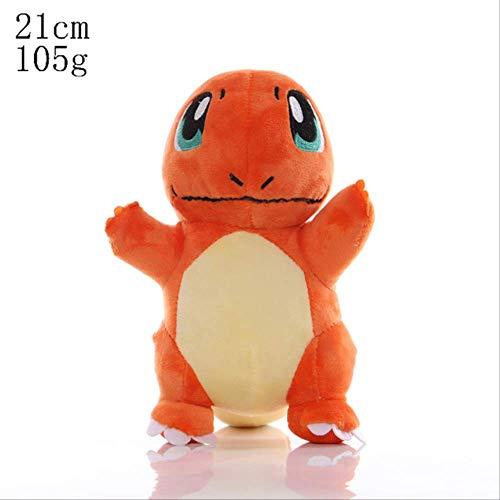 hope Peluche, Pikachu Charmander Bulbasaur Squirtle Peluches Eevee Snorlax Jigglypuff Lapras Garra Máquina Muñeca Regalos para Niños 21cm Charmander