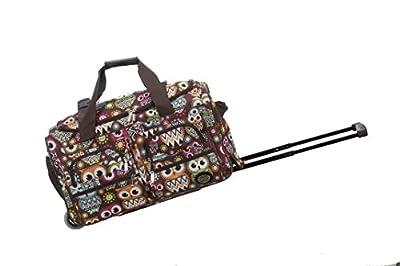 Rockland Rolling Duffel Bag, Owl, 22-Inch