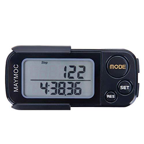 MAYMOC 3D Schrittzähler und Schritt Tracker für gehende Schritte Miles/Km Präzise Portable Clip am Sport Fitness tägliche Ziel Monitor Übung Entfernung Kalorien