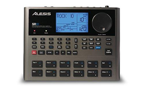 Alesis SR18 - Caja de ritmos con calidad de estudio, biblioteca de sonidos de percusión y batería, 12 pads sensibles a la intensidad, entradas/salidas para óptima funcionalidad y efectos/procesadores