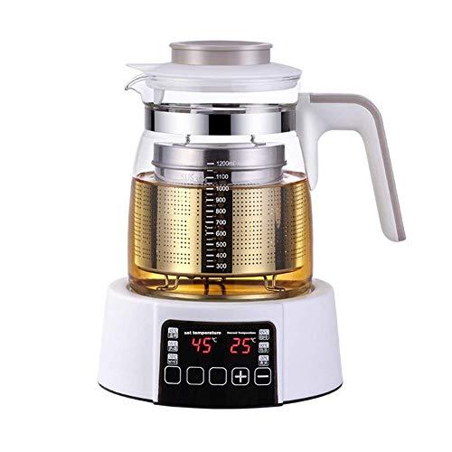 HEZHANG Gesundheitspflege Getränke Tee Maker Und Wasserkocher, 6-In-1-Programmierbarer Brühkocher-Meister, Ruhiger Kochkessel Mit Mikroporöser Slag-Netto-Koch-Trockenschutz, 1.2 L