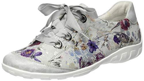 Remonte Damen R3413 Sneaker, Mehrfarbig (Ice/Offwhite-Metallic 91), 40 EU