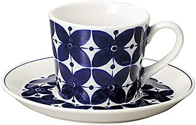 【日本製】 北欧風食器 ヴィオレッテ コーヒーカップ&ソーサー [ 碗皿 北欧柄 かわいい 洋食器 KOYO ] 電子レンジ・食洗機対応