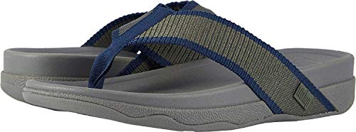 FitFlop Men's Surfer Sandal, Camouflage Green/Midnight Navy, 8 M US