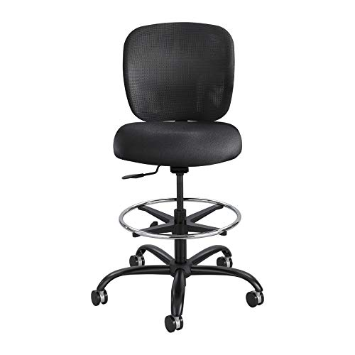 Safco Products Vue 24/7 Heavy Duty Stool home-office-furniture, Fabric, Black