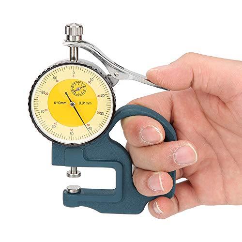 Bärbar 0-10 mm pekare tjocklek mätare urtavla display tjocklek mätare för plåt rör med förvaringslåda mätverktyg