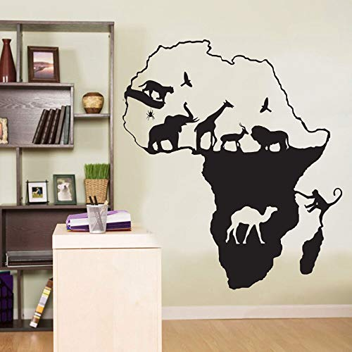 mlpnko Afrikanische Safari Giraffe AFFE Vinyl Wandtattoos Kinder Art Deco Aufkleber Kunst 63x73cm