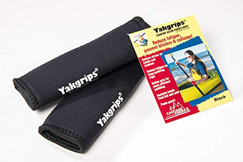 Yakgrips Takeapart Kayak Paddle Grips, No-Slip, Prevents Blisters (Black) - Cascade Creek