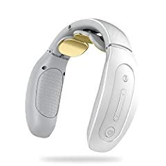 【4 Massage Modes And 15 Intensities】Press and hold the button for 3 seconds to start. The smart neck massager has 4 massage modes and 15 intensity settings, which can meet your various massage needs. Unlike traditional massagers, this neck massager h...