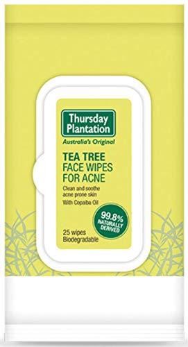 Toallitas faciales de árbol de té para el acné Thursday Plantation