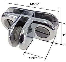 Chrome 3-Way Metal Glass Diplay Connector by GordonGlass