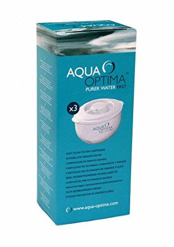Aqua Optima - Set di 3 filtri per acqua da 30 giorni, colore: Bianco