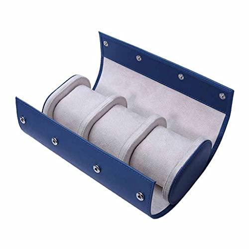 WYFDC Caja de reloj portátil para coleccionista de joyas de viaje, accesorios azul 1 pieza caja de almacenamiento de reloj
