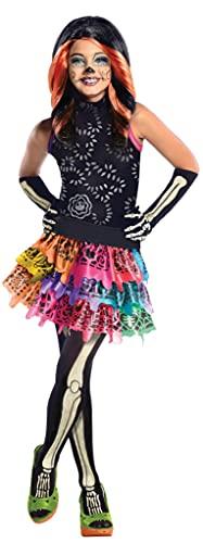 Monster High - Disfraz de Skelita Calaveras para nia, infantil 3-4 aos (Rubie's 886700-S)
