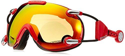 Casco Skibrille FX-70 MagnetLink, Carbonic Scheibe, rot-orange, incl. Hardcase und Sacchetto