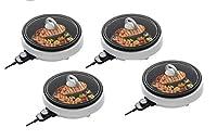 Aroma Housewares ASP-137 3クォート/10インチ 3イン1 スーパーポット グリルプレート付き (3クォート ホワイト (4パック)