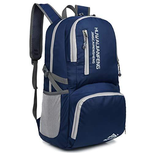 Crenze 35L Ultra leicht Faltbarer Wanderrucksack,Multifunktions Rucksack,Packable Wasserdichter Casual Camping Trekking Tagesrucksack für Outdoor Sport Reisen Klettern Bergsteiger