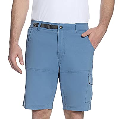 Gerry Mens Stretch Cargo 5 Pocket Shorts Venture Flat Front Woven Hiking Shorts for Men (32, Canal Blue)