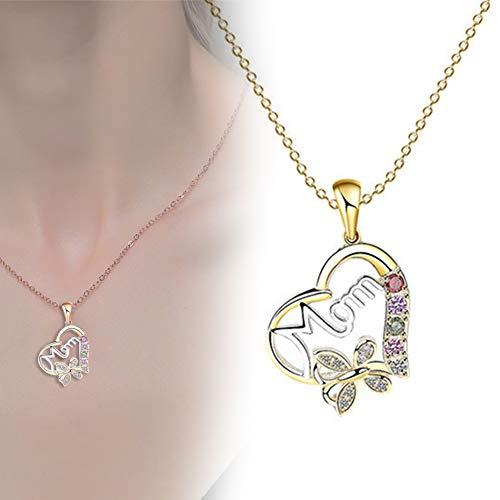 Collar Mujer, Amor Corazon Colgante Joyas Regalos para Esposa, Mamá, Novia, Cumpleaños Navidad Aniversario día de San Valentín Regalo