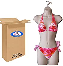 Female Mannequin Torso By EZ-Mannequins | Hollow Back or Half Form Display for Hanging | Lightweight, Easy Setup and Store for Craft Shows, Photos or Projects | Suggested for Small-Medium Clothing.