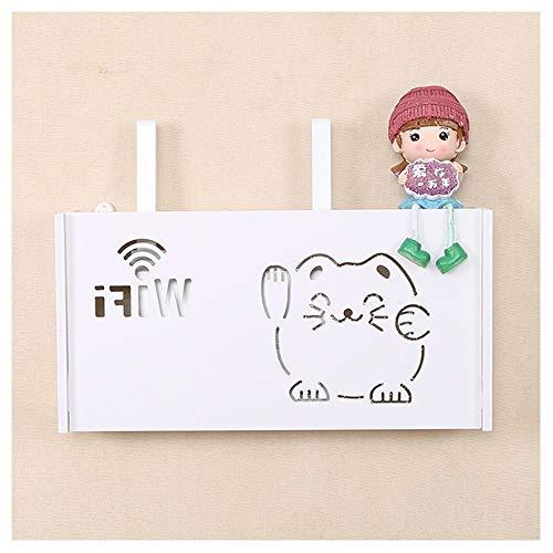 Hibeilinq 1PC montado en la pared Wifi Router inalámbrico Caja de almacenamiento...