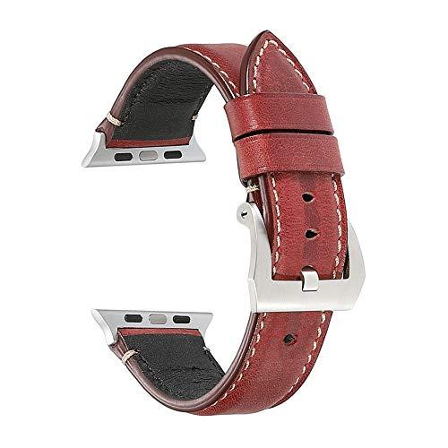 Acocho Kompatibel für Apple Watch Armband 38mm 40mm Leder,Echtleder iWatch Straps Ersatz Lederarmband für Apple Watch Series 5 4 3 2 1