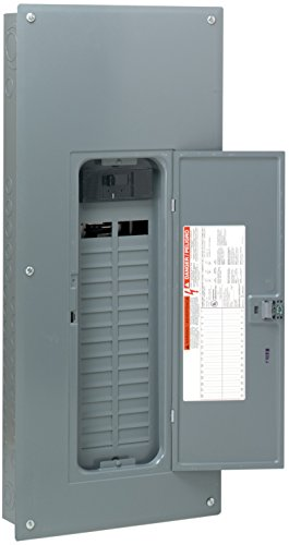 Square D by Schneider Electric HOM3060M200PC Square D Convertible Mains (Breaker) Load Center, 120/240 Vac, 200 A, 1 Phases, 22000 Air Interrupt