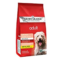 Arden Grange Adult Dry Dog Food Chicken and Rice 14kg extra fill Premium dry dog food Highly palatable and digestible chicken recipe Naturally hypoallergenic extra fill bag
