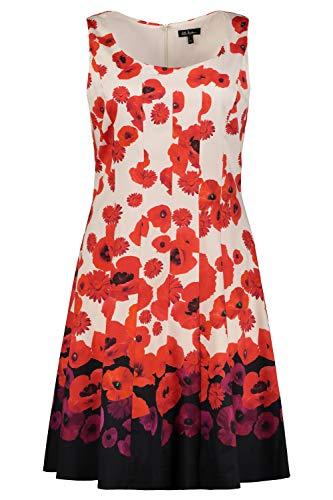 professionnel comparateur Urapopen Robe de grande taille pour femme à rayures Jupe de danse à glissière rouge vif 54474786 50-52 choix