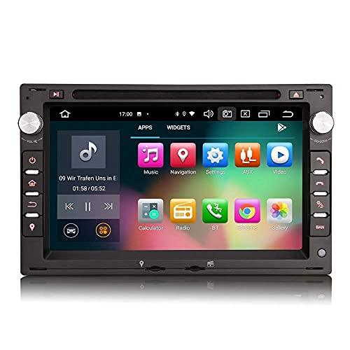 Para VW PAS SAT PEUGEOT GOLF MK4 T5 SEAT 7 pulgadas Android 10.0 Unidad principal de navegación GPS estéreo para automóvil Soporte SWC Offline/Online Maps Reproductor multimedia