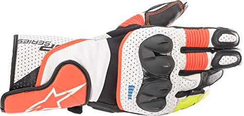 Alpinestars Motorradhandschuhe kurz Motorrad Handschuh SP-2 V3 Sporthandschuh schwarz/weiß/rot M, Unisex, Sportler, Ganzjährig, Leder