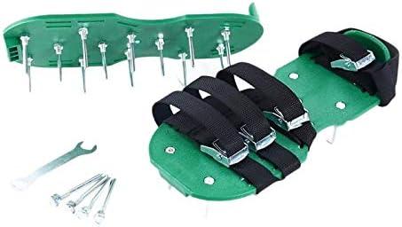 XHUENG Útil Césped aireador Zapatos Antideslizantes Zapatos sólidos escarificador Jardín Pinchos duraderos (Color : Green)