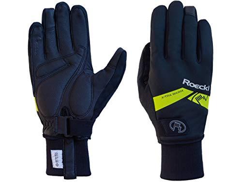 Roeckl Winter Bike Handschuhe Villach Extra Warm, Absolute Hightech, Schwarz/Gelb, 9