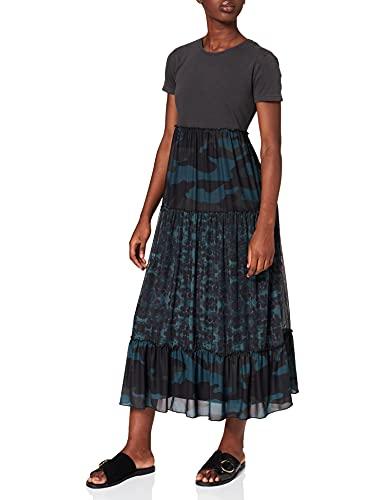 Desigual Damska sukienka Vest_Aikido Casual, czarny, L