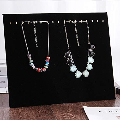 MUY Tablero de exhibición de Collar Soporte de exhibición de joyería de Terciopelo Estante de Collar Pendientes Colgante Accesorios de exhibición Caja de Recuerdo Caja de Recuerdo de Pascua