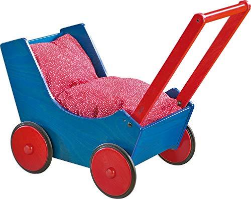 Haba 1625 - Puppenwagen Blau/ Rot