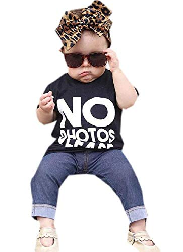 Pak - outfit - t-shirt - korte mouw - grappig - geen foto alstublieft - broek - legging - jeans - babyhood - meisje