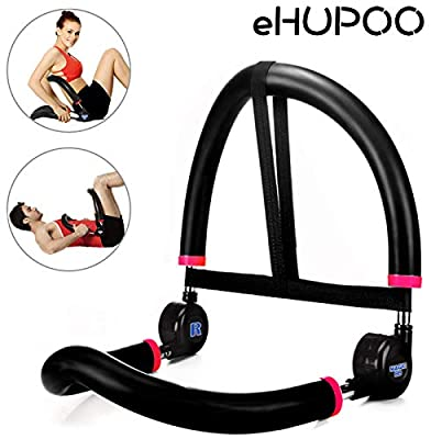 eHUPOO Abdominal &Core Strength Exercise Trainers,10 in 1 Abdominal Training Machine,All in One Core Strength Workout Fitness Equipment for Home Gym Workout Weight Loss.Black