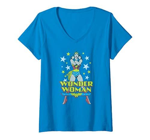Womens Wonder Woman A Wonder V-Neck T-Shirt