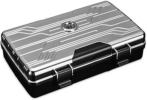 WANGXIAOYUE Caja de cigarros Higrómetro Integrado y humidor Impermeable a Prueba de cigarros. Caja de Tabaco (Color : B)