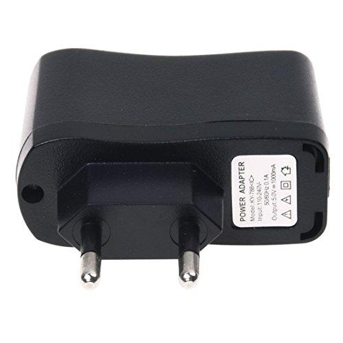 Adaptador de Enchufe - TOOGOO(R)Transformador Adaptador de Enchufe europeo para Pared y USB para Movil Mp3 Mp4 220V a 5V