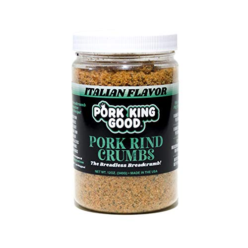 Pork King Good Italian Pork Rind Crumbs (Low Carb Keto Diet)! Perfect For Ketogenic, Paleo, Gluten-Free, Sugar Free and Bariatric Diets. 0 Carbs!